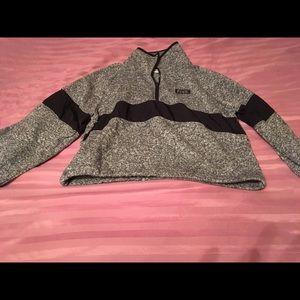 Pink sweater half zip
